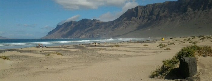 Playa de Famara is one of Lanzarote, Spain.