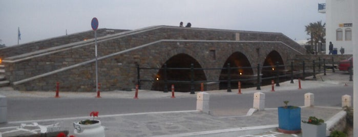 Naoussa Bridge is one of Paros island.