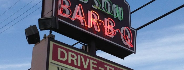 Big Bob Gibson's BBQ is one of Orte, die Michael gefallen.