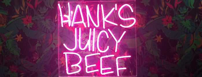 Hank's Juicy Beef is one of New Office Eats.