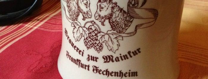 Bier-Hannes is one of Frankfurt.