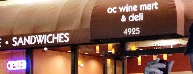 OC Wine Mart & Deli is one of California.