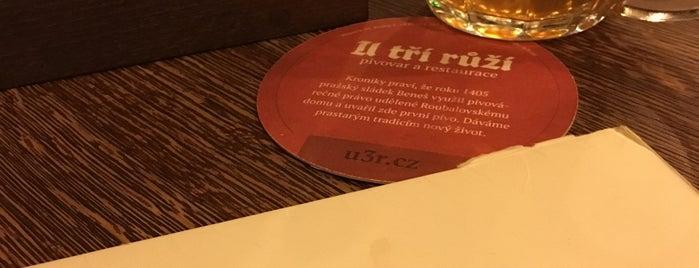 Pivovar U Tří růží is one of Lieux qui ont plu à Chiara.