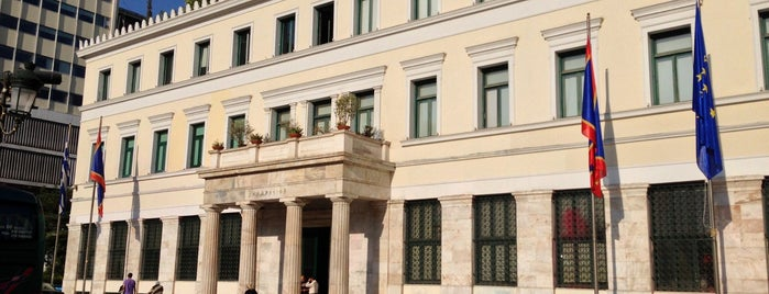 Athens City Hall is one of Tempat yang Disukai Theodosia.