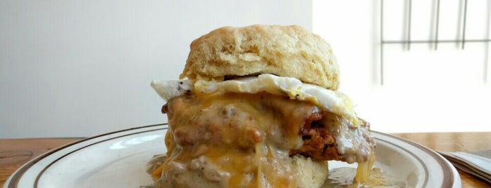 Pine State Biscuits is one of Portland.
