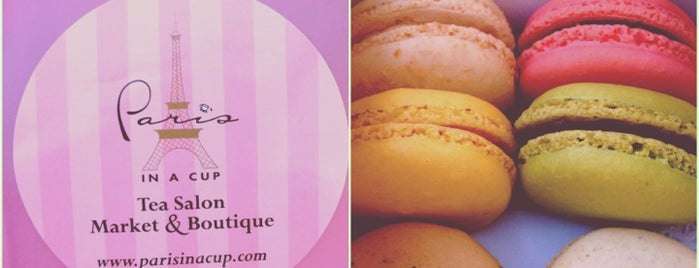 Paris in a Cup is one of macaroons.