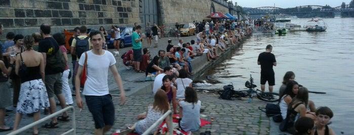 Pražská náplavka   Vltava Riverside is one of Long weekend in Prague.