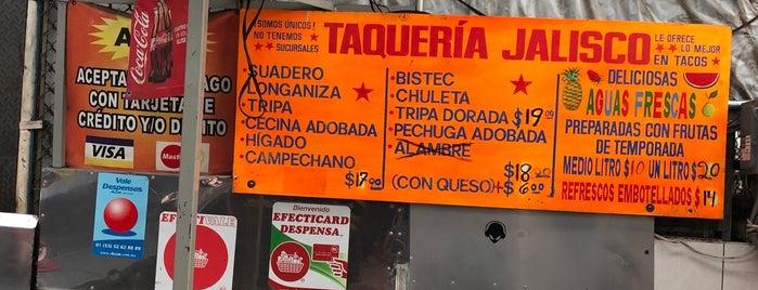 Taqueria Jalisco Mercado La Moderna is one of Tempat yang Disimpan Daniel.