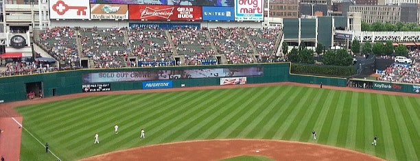 Progressive Field is one of sports arenas and stadiums.