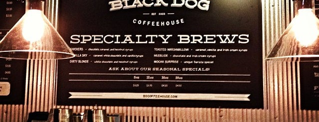 Black Dog Coffeehouse is one of out of town.