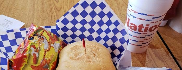 Burger Nation is one of Tempat yang Disukai ESTHER.