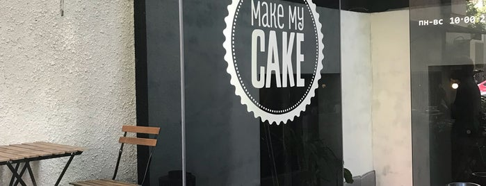 Make My Cake is one of Coffee & desserts in Kyiv.