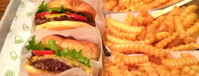 Shake Shack is one of times square refuge.