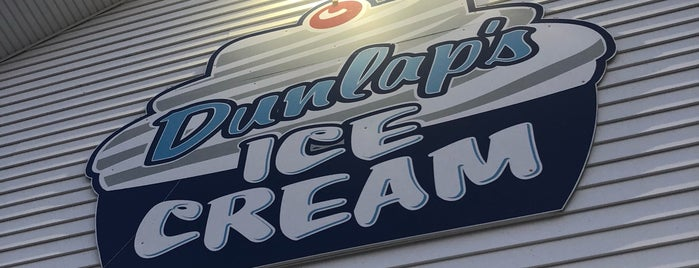 Dunlap's Ice Cream is one of New Hampshire.