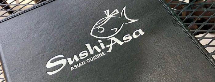Sushi Asa is one of สถานที่ที่ Matt ถูกใจ.