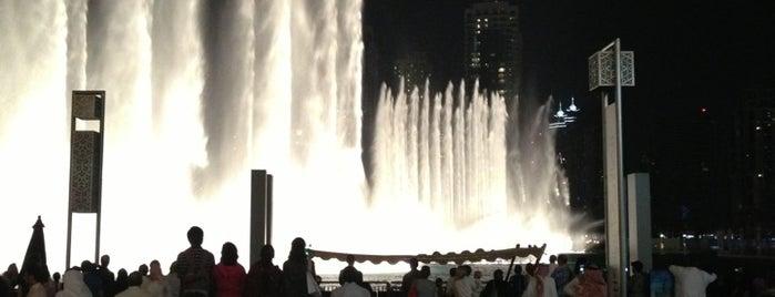The Dubai Fountain is one of Abu Dhabi & Dubai, United Arab emirates.