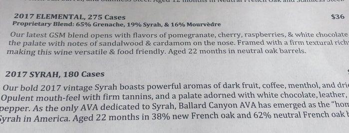 Larner Vineyard is one of Santa Barbara Wineries.