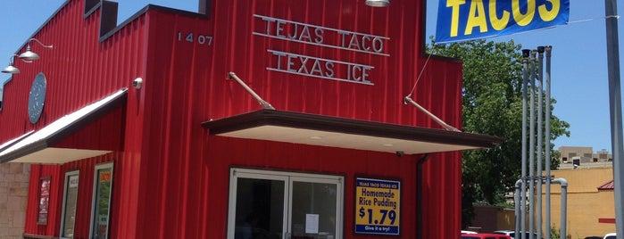 Tejas Taco is one of สถานที่ที่บันทึกไว้ของ Rebecca.