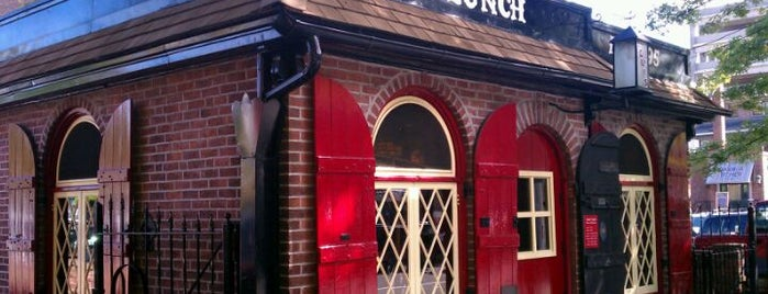 Louis' Lunch is one of NY Region Old-Timey Bars, Cafes, and Restaurants.