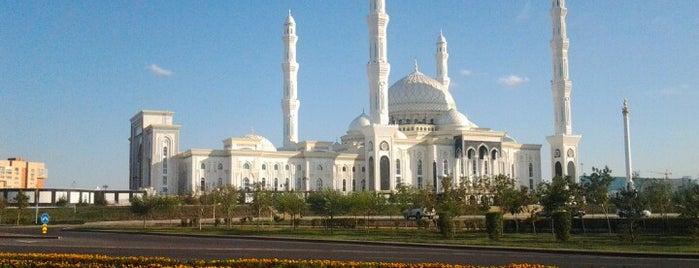 Әзірет Сұлтан мешіті / Мечеть Хазрет Султан / Hazrat Sultan Mosque is one of Nur-Sultan.