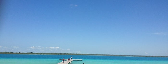 Laguna de Bacalar is one of Mexico // Cancun.