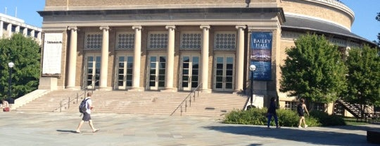 Bailey Hall is one of Alyssa's Ithaca visit.