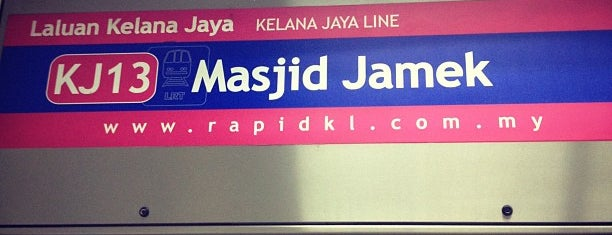 RapidKL Masjid Jamek (ST5/KJ13) LRT Station is one of マレーシア.
