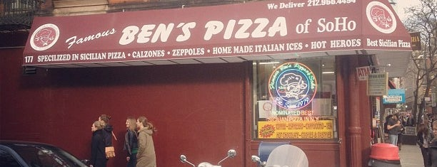 Famous Ben's Pizza of SoHo is one of Great Square Slices in NYC.