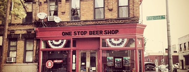 One Stop Beer Shop is one of USA NYC BK Bushwick.