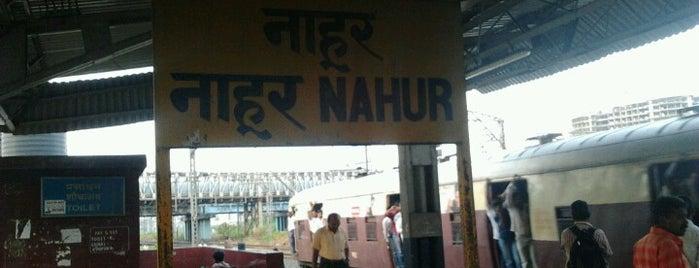 Nahur Railway Station is one of Central Line (Mumbai Suburban Railway).