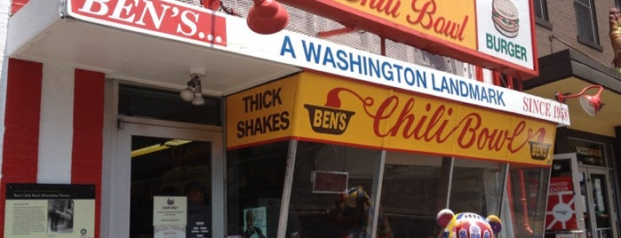 Ben's Chili Bowl is one of Diners Drive-Ins and Dives & Roadfood.