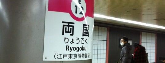 Oedo Line Ryogoku Station (E12) is one of Tokyo - Yokohama train stations.