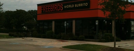 Freebirds World Burrito is one of Tempat yang Disukai KATIE.