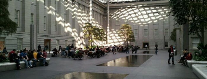 Robert and Arlene Kogod Courtyard is one of Washington DC.