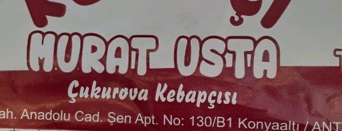 Kebapçı Murat Usta is one of antalya.