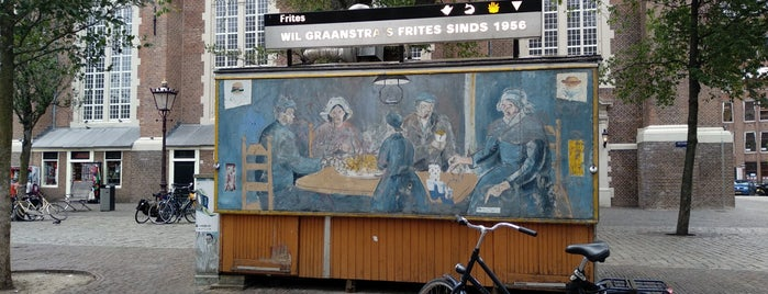 Wil Graanstra's frites sinds 1956 is one of Amsterdam.