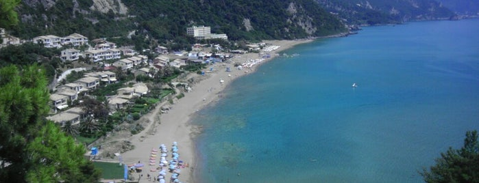 Glyfada Beach is one of Corfu.