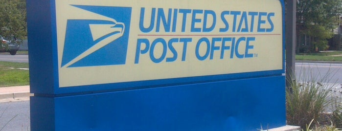 US Post Office is one of Most Frequent.