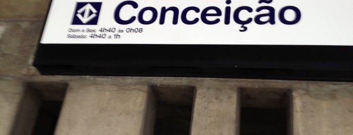 Estação Conceição (Metrô) is one of Locais curtidos por Cledson #timbetalab SDV.