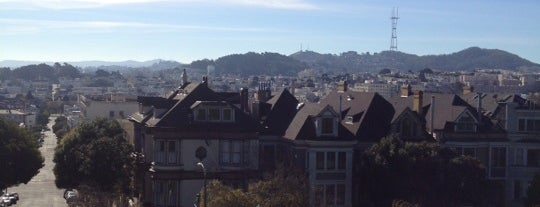 Alta Plaza Park is one of San Francisco Bay.