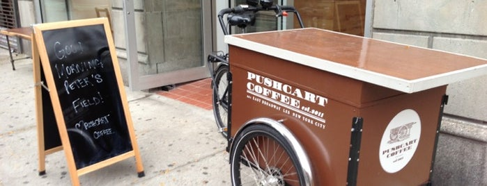 Pushcart Coffee is one of Notable Coffee Shops (NYC).