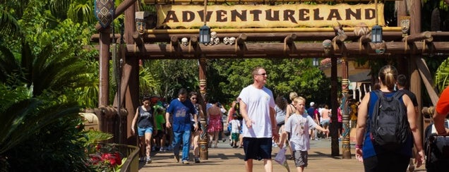 Adventureland is one of Walt Disney World.