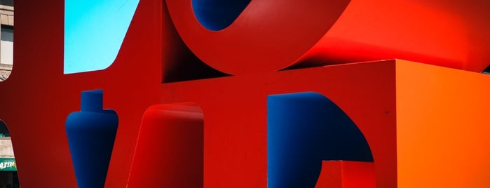 LOVE Sculpture by Robert Indiana is one of NYC Arts.