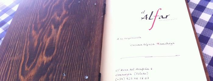 Restaurante El Alfar is one of สถานที่ที่ Miguel ถูกใจ.