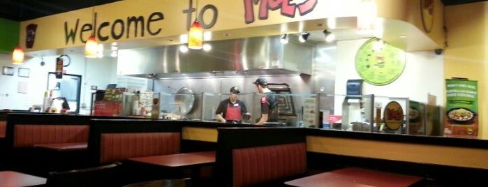 Moe's Southwest Grill is one of Tempat yang Disukai Michiyo.