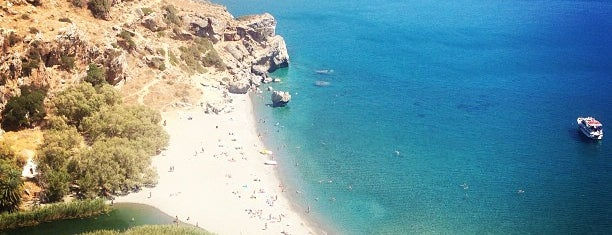 Preveli Beach is one of Crete.
