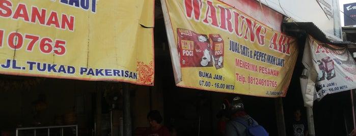 Warung Ari (sate dan pepes ikan laut) is one of dps.