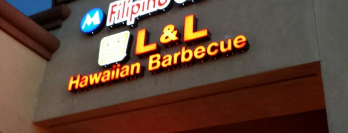 L&L Hawaiian Barbecue is one of Lieux qui ont plu à Sarai.