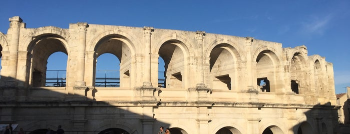 Amphitheater is one of Arles, France.