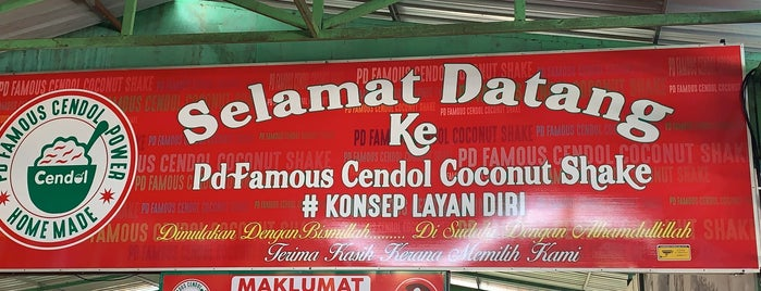 """PD """"Famous"""" Cendol """"Coconut Shake"""" """"Power"""" RM2 is one of Hirorieさんの保存済みスポット."""